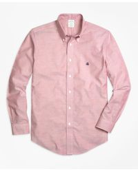 Brooks Brothers | Red Non-iron Milano Fit Oxford Sport Shirt for Men | Lyst