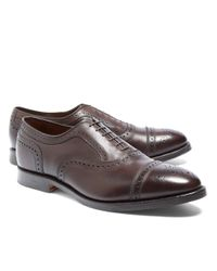 Brooks Brothers | Brown Peal & Co.® Medallion Perforated Captoes for Men | Lyst
