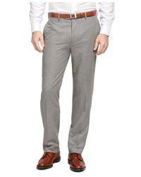 Brooks Brothers | Gray Fitzgerald Fit Plain-front Flannel Trousers for Men | Lyst
