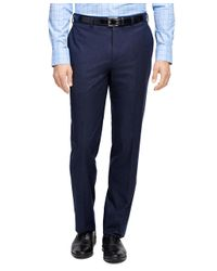 Brooks Brothers   Blue Fitzgerald Fit Plain-front Flannel Dress Trousers for Men   Lyst