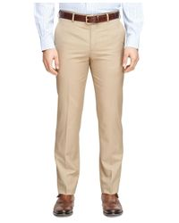 Brooks Brothers   Brown Fitzgerald Fit Wool And Mohair Dress Trousers for Men   Lyst