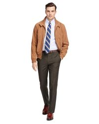 Brooks Brothers - Brown Fitzgerald Fit Wool And Mohair Check Trousers for Men - Lyst