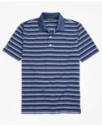 Brooks Brothers | Blue St. Andrews Links Pique Stripe Golf Polo Shirt for Men | Lyst