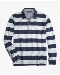 Brooks Brothers | Blue Original Fit Rugby Stripe Long-sleeve Polo Shirt for Men | Lyst