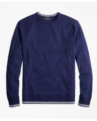 Brooks Brothers | Blue Supima® Cotton Crewneck Sweatshirt for Men | Lyst