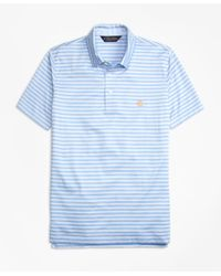 Brooks Brothers | Blue Slim Fit Self-collar Stripe Polo Shirt for Men | Lyst