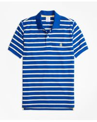 Brooks Brothers | Blue Original Fit Supima® Cotton Pique Classic Stripe Polo Shirt for Men | Lyst