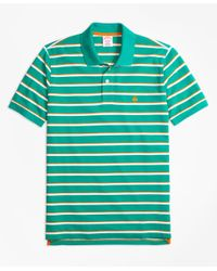 Brooks Brothers | Green Original Fit Supima® Cotton Pique Classic Stripe Polo Shirt for Men | Lyst