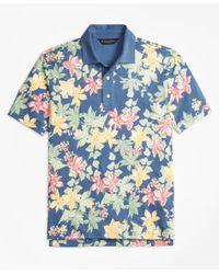 Brooks Brothers | Blue Original Fit Interlock Tropical Print Polo Shirt for Men | Lyst
