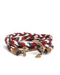 Brooks Brothers - Kiel James Patrick Red Leather Wrap Bracelet for Men - Lyst