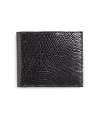 Brooks Brothers | Black Lizard Wallet for Men | Lyst