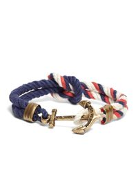 Brooks Brothers | Blue Kiel James Patrick Red Navy And White Triton Bracelet for Men | Lyst