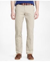 Brooks Brothers | Natural Milano Fit Plain-front Lightweight Advantage Chinos® for Men | Lyst