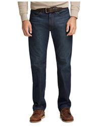 Brooks Brothers - Blue Supima® Denim Relaxed Fit Jeans for Men - Lyst