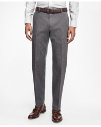 Brooks Brothers | Gray Non-iron Milano Fit Pinstripe Chinos for Men | Lyst