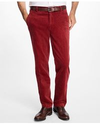 Brooks Brothers | Black Clark Fit Wide Wale Stretch Corduroys for Men | Lyst
