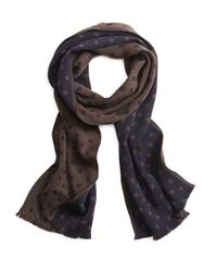 Brooks Brothers | Blue Dot Scarf for Men | Lyst