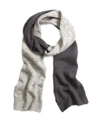 Brooks Brothers | Gray Color-block Scarf for Men | Lyst