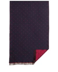Brooks Brothers | Blue Mini Polka Dot Scarf for Men | Lyst