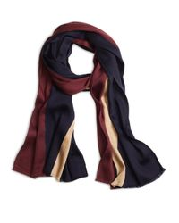 Brooks Brothers - Purple Color-block Stripe Scarf for Men - Lyst