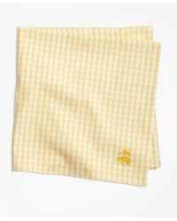 Brooks Brothers | Yellow Supima® Cotton Gingham Pocket Square for Men | Lyst