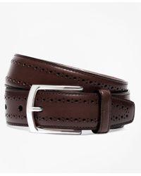 Brooks Brothers | Brown Allen Edmonds Perforated Belt for Men | Lyst