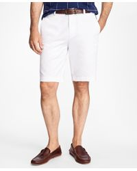 Brooks Brothers | White Garment-dyed Bermuda Shorts for Men | Lyst