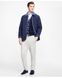 Brooks Brothers | Blue Diamond Quilted Jacket for Men | Lyst