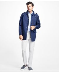 Brooks Brothers | Blue Water-resistant Parka With Removable Hood for Men | Lyst