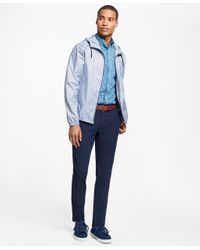 Brooks Brothers | Blue Water-repellant Micro Gingham Windbreaker for Men | Lyst