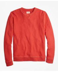 Brooks Brothers | Red Pique Crewneck Sweatshirt for Men | Lyst
