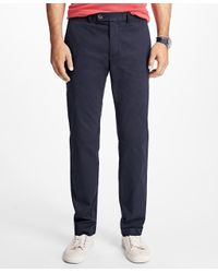 Brooks Brothers | Blue Slim Fit Garment-dyed Chinos for Men | Lyst