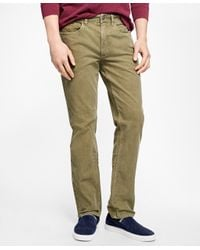 Brooks Brothers   Green Five-pocket Fine Wale Stretch Corduroys for Men   Lyst