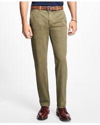 Brooks Brothers | Green Garment-dyed Stretch Chinos for Men | Lyst