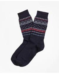 Brooks Brothers | Blue Wool-blend Fair Isle Socks for Men | Lyst