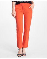 Brooks Brothers | Orange Stretch Cotton Pants | Lyst
