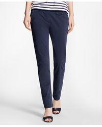 Brooks Brothers | Blue Stretch-cotton Twill Pants | Lyst