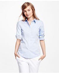 Brooks Brothers   Blue Nine To Nine Shirt   Lyst