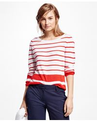 Brooks Brothers - Multicolor Linen Stripe Crewneck Sweater - Lyst