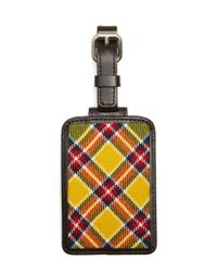 Brooks Brothers | Yellow, Red And White Plaid Luggage Tag for Men | Lyst