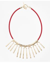 Brooks Brothers | Metallic Hammered Gold Necklace | Lyst