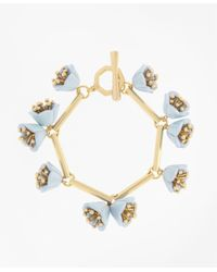 Brooks Brothers | Metallic Flower Bracelet | Lyst