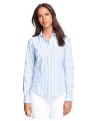 Brooks Brothers | Blue Petite Non-iron Fitted Supima® Cotton Stripe Dress Shirt | Lyst