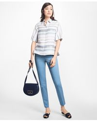 Brooks Brothers - White Striped City Camp Shirt - Lyst