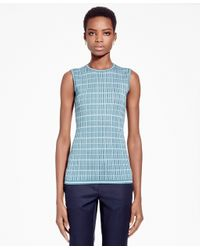 Brooks Brothers | Blue Double Jacquard Silk-blend Shell | Lyst