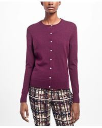 Brooks Brothers - Multicolor Long-sleeve Saxxon Wool Cardigan - Lyst