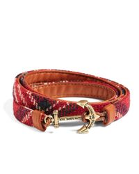 Brooks Brothers - Red Kiel James Patrick Signature Tartan Wrap Bracelet for Men - Lyst