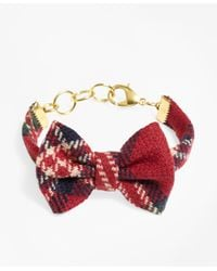 Brooks Brothers - Red Kiel James Patrick Tartan Bow Tie Bracelet - Lyst