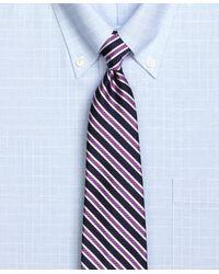 Brooks Brothers - Purple Framed Twill Stripe Tie for Men - Lyst