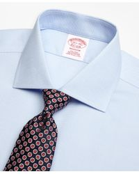 Brooks Brothers - Blue Madison Classic-fit Dress Shirt, Non-iron Textured Circles for Men - Lyst